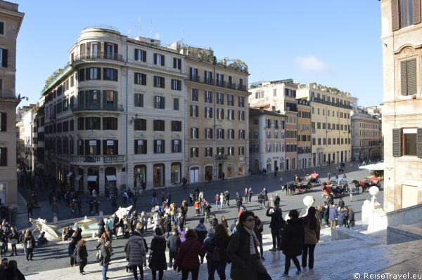 Blick auf die Spanische Treppe Rom by ReiseTravel.eu