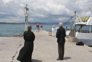 Pilger in Athos Griechenland