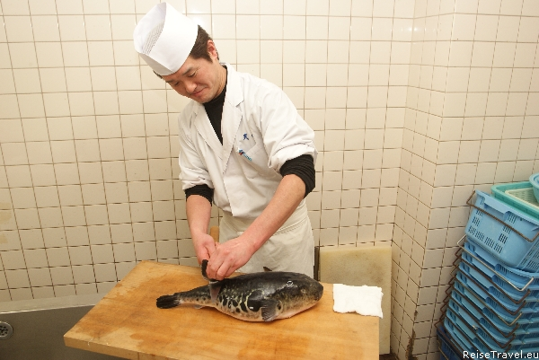 Kugelfisch Fugu Zubereitung